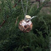 """Подарки к праздникам ручной работы. Ярмарка Мастеров - ручная работа Ёлочный шар """"Пробковый"""" талисман оберег. Handmade."""