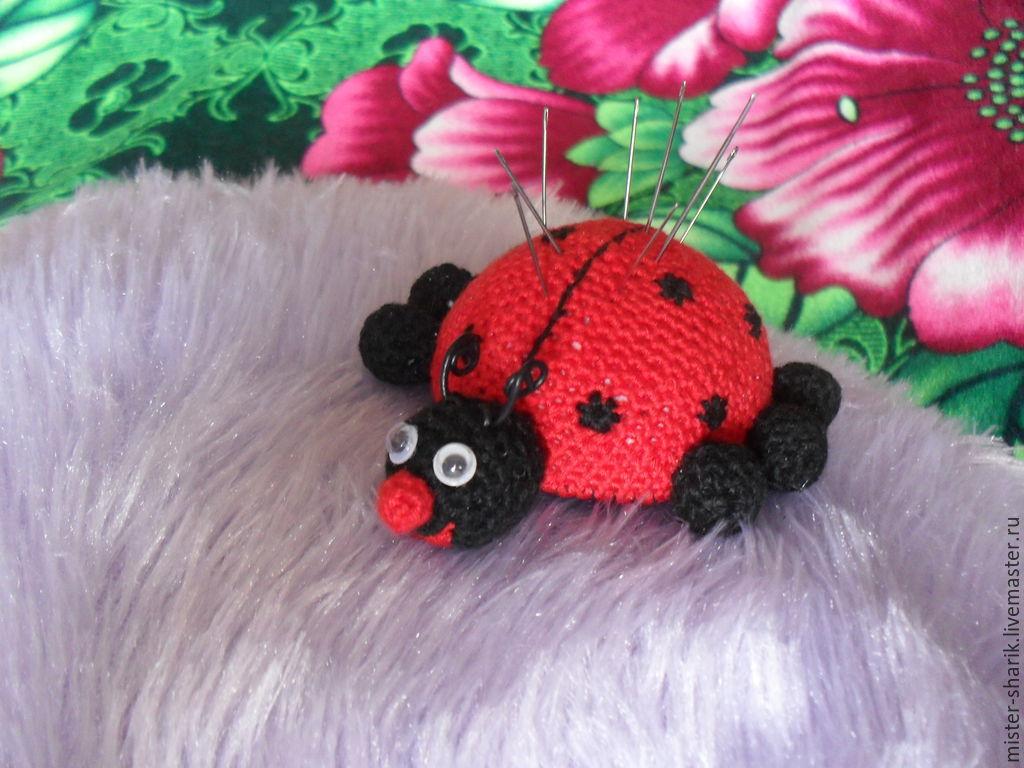 Pincushion ladybug, Stuffed Toys, Permian,  Фото №1