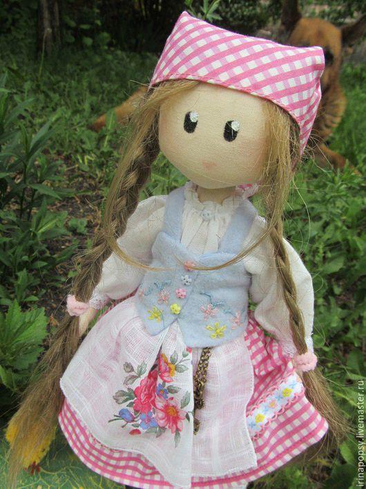 """Коллекционные куклы ручной работы. Ярмарка Мастеров - ручная работа. Купить Интерьерная кукла """"Марта"""".. Handmade. Розовый, курочка, кружево"""