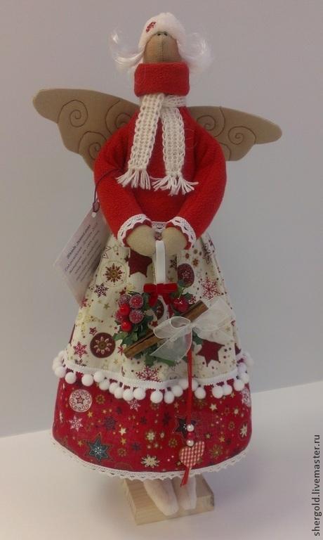 Куклы Тильды ручной работы. Ярмарка Мастеров - ручная работа. Купить Текстильная кукла в стиле Тильда. Зимний Ангел.. Handmade.