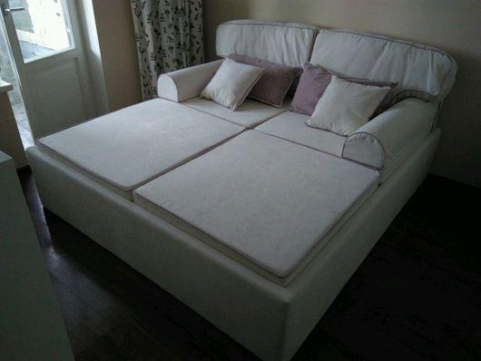 Мебель ручной работы. Ярмарка Мастеров - ручная работа. Купить Кровать подиум с отделкой контрастными кантиками.. Handmade. Мебель
