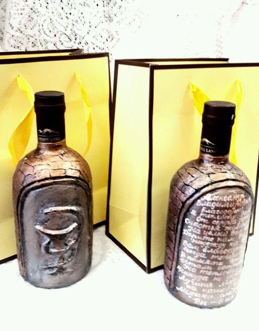 """Подарки для мужчин, ручной работы. Ярмарка Мастеров - ручная работа. Купить Бутылочка""""Подарок Врачу """"В благодарность за понимание и заботу.. Handmade."""