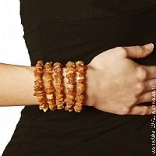 Bracelet natural amber raw stone natural, Bead bracelet, Kaliningrad,  Фото №1
