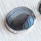 Украшения handmade. Livemaster - original item Iridium obsidian (pendant brooch) (891). Handmade.