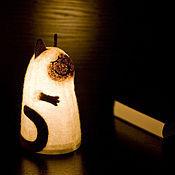 Для дома и интерьера ручной работы. Ярмарка Мастеров - ручная работа Светильник войлочный Сиамский кот. Handmade.