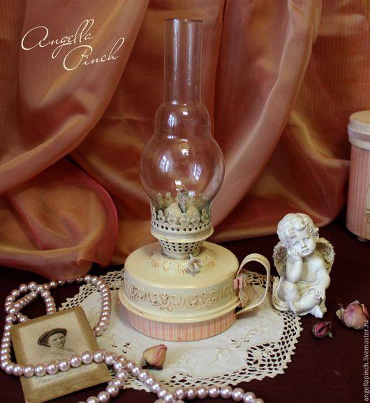 """Освещение ручной работы. Ярмарка Мастеров - ручная работа. Купить Лампа керосиновая """"Розовый флёр"""". Handmade. Кремовый, интерьер"""