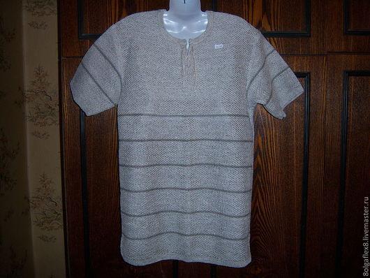 льняная трикотажная рубашка