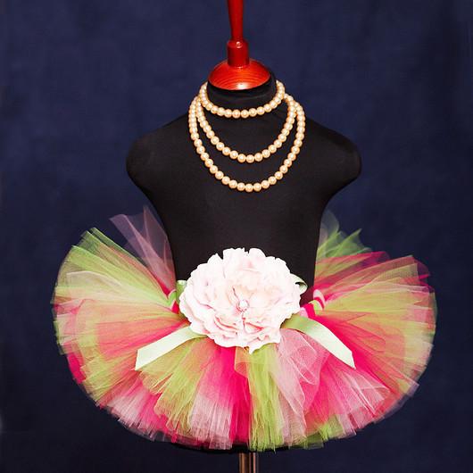 """Одежда для девочек, ручной работы. Ярмарка Мастеров - ручная работа. Купить """"Мармеладное утро"""" пышная юбка-пачка из фатина. Handmade."""