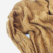 Одежда handmade. Livemaster - original item Knitted sweater with an openwork pattern and braids. Handmade.