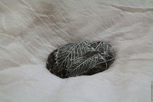 """Броши ручной работы. Ярмарка Мастеров - ручная работа. Купить Брошь """"Листья в камне"""". Handmade. Серый, полимерная глина fimo"""