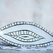 Для дома и интерьера ручной работы. Ярмарка Мастеров - ручная работа Керамический лист-подставка для мелочей. Handmade.