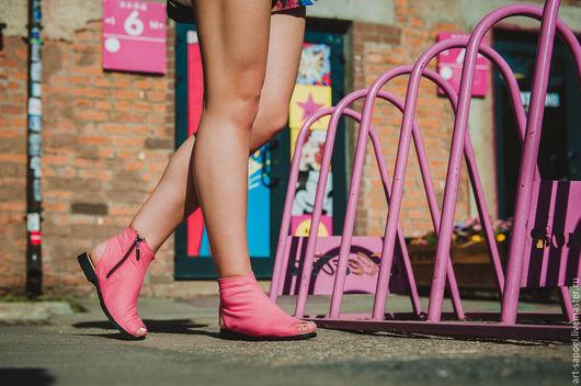 Обувь ручной работы. Ярмарка Мастеров - ручная работа. Купить Открытые летние ботинки 11-333 (ВЧ). Handmade. Мода