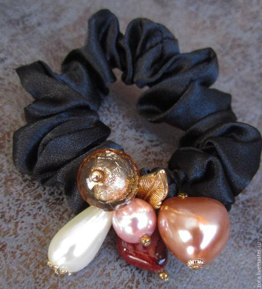 """Заколки ручной работы. Ярмарка Мастеров - ручная работа. Купить резинка для волос """"Фиолетовые сумерки"""" (отложена). Handmade. Резинка для волос"""