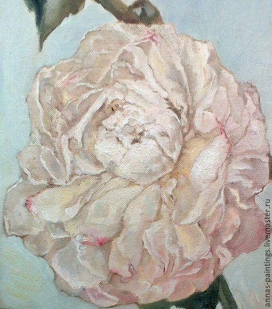 Картины цветов ручной работы. Ярмарка Мастеров - ручная работа. Купить Розовый пион. Handmade. Цветы, картина маслом