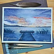 """Картины и панно ручной работы. Ярмарка Мастеров - ручная работа """"На мостике"""". Handmade."""
