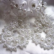 Украшения handmade. Livemaster - original item Earrings wedding