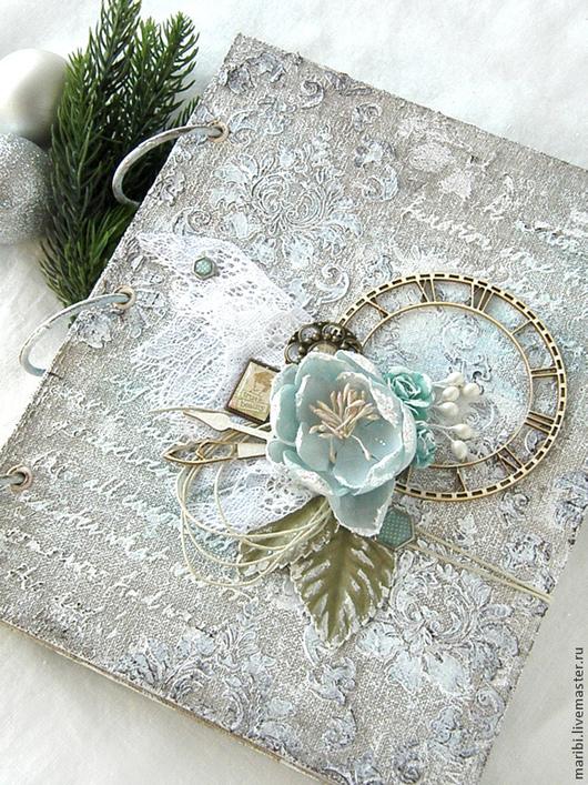 Блокноты ручной работы. Ярмарка Мастеров - ручная работа. Купить Блокнот Winter Frost. Handmade. Голубой, винтажный блокнот, блокнот