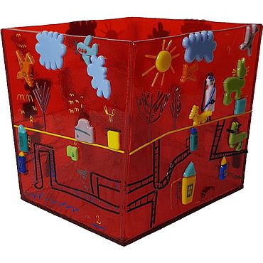 Посуда ручной работы. Ярмарка Мастеров - ручная работа Декоративная ваза с детским рисунком. Handmade.