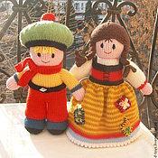 Куклы и игрушки ручной работы. Ярмарка Мастеров - ручная работа Вязаные куклы из шерсти Мальчик и Девочка. Handmade.