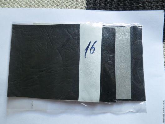 Другие виды рукоделия ручной работы. Ярмарка Мастеров - ручная работа. Купить НАБОР небольшие  листы экокожи № 16 чено-бело-серебр. Handmade.