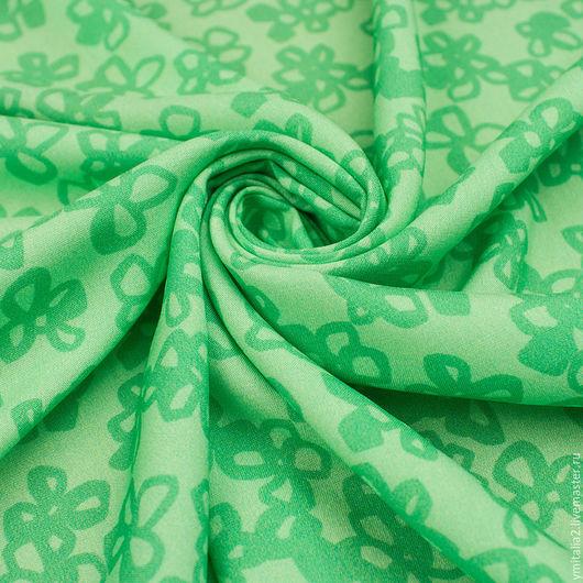 Шитье ручной работы. Ярмарка Мастеров - ручная работа. Купить Штапель вискозный плательная ткань MIU MIU зеленая. Handmade.