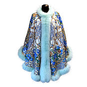 Одежда handmade. Livemaster - original item Ponchos OVERSIZE scarf from pavlovoposadskaja