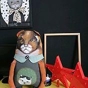 Мягкие игрушки ручной работы. Ярмарка Мастеров - ручная работа Кот-подушка. Handmade.