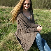 Одежда handmade. Livemaster - original item Cardigan female knitted Chic braids stylish fashionable youth. Handmade.