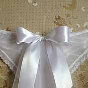 Одежда ручной работы. Ярмарка Мастеров - ручная работа Свадебные трусики с фатой. Handmade.