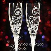 """Свадебный салон ручной работы. Ярмарка Мастеров - ручная работа Свадебные бокалы """"Elegante"""". Handmade."""