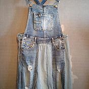 Одежда handmade. Livemaster - original item Boho denim sundress. Handmade.