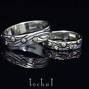 """Свадебный салон ручной работы. Ярмарка Мастеров - ручная работа """"Течение"""" оригинальные обручальные кольца. Handmade."""
