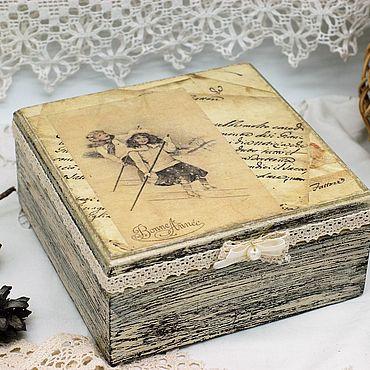 Для дома и интерьера ручной работы. Ярмарка Мастеров - ручная работа Шкатулки:зимняя прогулка массив сосны. Handmade.