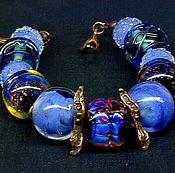 Украшения handmade. Livemaster - original item Bracelet Lavender lampwork. Handmade.