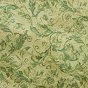 Материалы для творчества ручной работы. Ярмарка Мастеров - ручная работа Ткань гобеленовая- зеленые мотивы. Handmade.