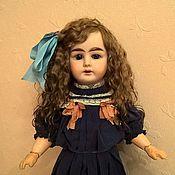 Куклы и игрушки ручной работы. Ярмарка Мастеров - ручная работа Мохеровый парик для антик.куклы 25,5 см. Handmade.