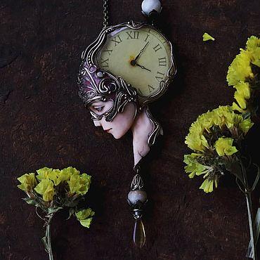 """Украшения ручной работы. Ярмарка Мастеров - ручная работа Колье: """"Хозяйка старинных часов"""" часы, модерн.. Handmade."""