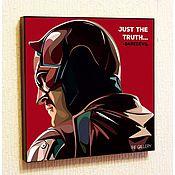 Подарки к праздникам handmade. Livemaster - original item Picture poster Pop Art Daredevil. Handmade.