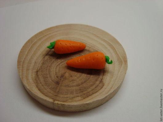 Миниатюра ручной работы. Ярмарка Мастеров - ручная работа. Купить Морковь. Кукольная еда. Миниатюра для кукол, кукольного домика.. Handmade.