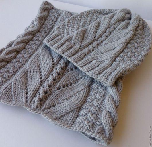 Комплекты аксессуаров ручной работы. Ярмарка Мастеров - ручная работа. Купить Вязаный комплект Gray шапка и шарф снуд. Handmade.