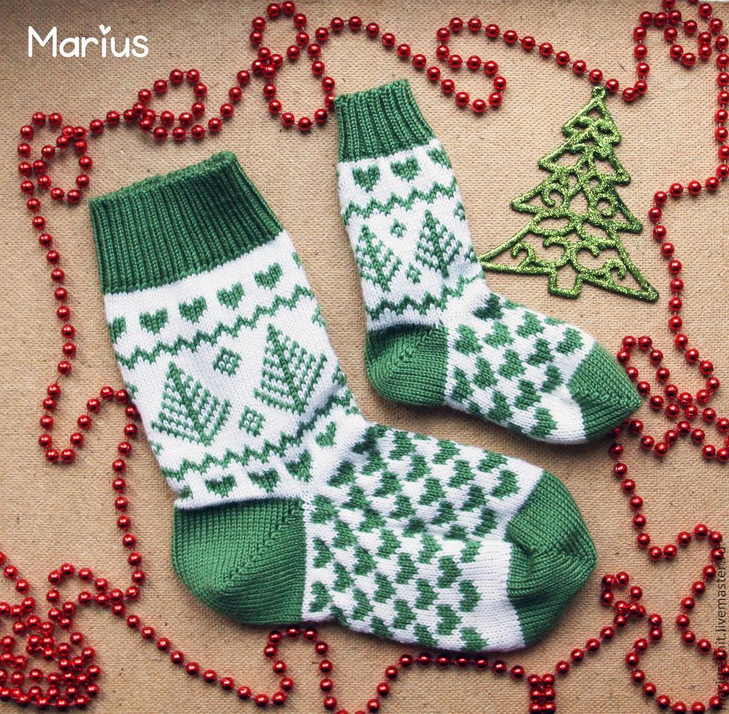 Вязание спицами носков. Схемы носков спицами на 28