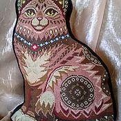 Подушки ручной работы. Ярмарка Мастеров - ручная работа Подушка Кошка. Handmade.