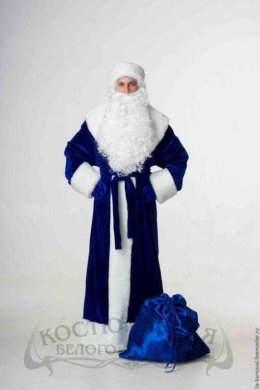 """Карнавальные костюмы ручной работы. Ярмарка Мастеров - ручная работа. Купить Костюм Дед Мороз """"Бархатный"""" синий. Handmade."""