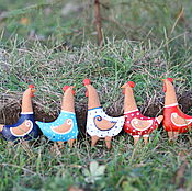 """Куклы и игрушки ручной работы. Ярмарка Мастеров - ручная работа Набор новогодних игрушек """"Петухи"""". Handmade."""