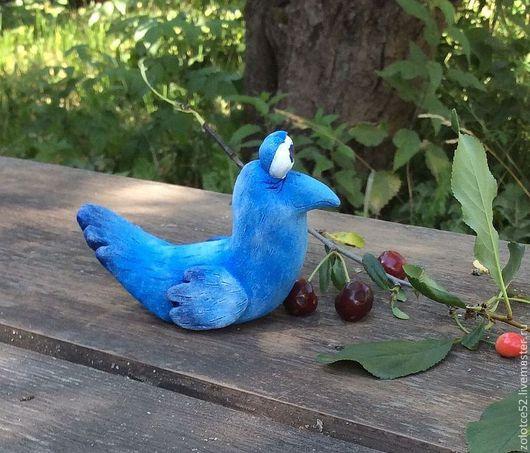 Сказочные персонажи ручной работы. Ярмарка Мастеров - ручная работа. Купить Синий птах керамика. Handmade. Синий, сказка