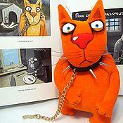 Куклы и игрушки handmade. Livemaster - original item Watch cat. Soft toy red plush cat Vasya Lozhkina. Handmade.