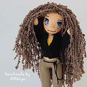 Куклы и игрушки ручной работы. Ярмарка Мастеров - ручная работа Вязаная кукла Карина. Handmade.