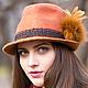 Головные уборы ручной работы. Шляпа федора в баварском стиле `Гамбург`. Автор Евгения Лисицына (Jane Fox). Ярмарка Мастеров.