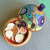 """Для дома и интерьера ручной работы. Ярмарка Мастеров - ручная работа Шкатулка-шар """"Австралия"""". Handmade."""