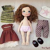 Куклы и игрушки ручной работы. Ярмарка Мастеров - ручная работа Кукла с набором одежды №2. Handmade.